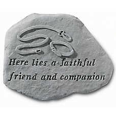 Kay Berry Faithful Friend Dog Leash Memorial Stone