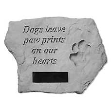Kay Berry Paw Print Personalized Memorial Stone