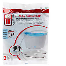 Dogit Design Fresh And Clear Pet Fountain Carbon Replacement Filters