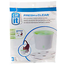 Catit Design Fresh & Clear Pet Fountain Carbon/Foam Replacement Filters
