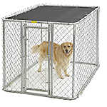 Midwest Chain Link Portable Kennel with Sunscreen