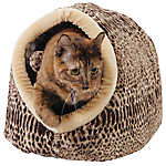 Whisker City® Animal Print Enclosed Cat Bed