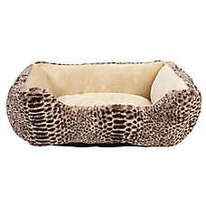 Whisker City® Animal Print Cuddler Pet Bed