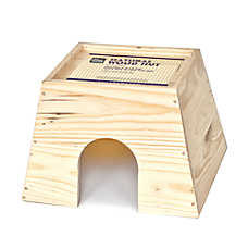 All Living Things® Natural Wood Small Animal Hut