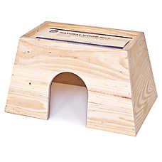 All Living Things® Natural Wood Small Animal Hut