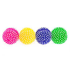 Grreat Choice® Spiky Ball 4-Pack Dog Toy - Squeaker