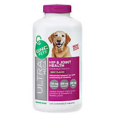 GNC Ultra Mega Hip & Joint Health Senior Dog Chewable Tablet