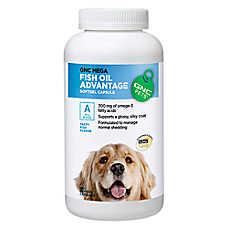 Gnc pets mega fish oil advantage softgel dog capsules for Fish oil pills for dogs