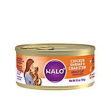HALO® Adult Cat Food - Natural, Grain Free, Chicken, Shrimp & Crab Recipe
