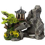 Top Fin® Asian Pagoda on Rock Aquarium Ornament