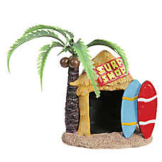 Top Fin® Tiki Surf Shop Aquarium Ornament