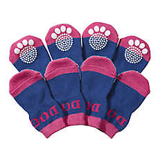 Pet Life Fashion Dog Socks w/ Rubberized Grips