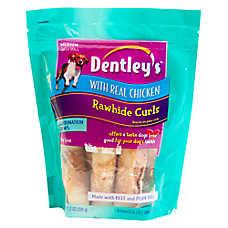 Dentley's Rawhide Curls Dog Treats