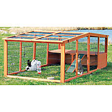 TRIXIE Pitched Roof Mesh Cover Small Animal Outdoor Run
