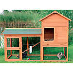 Trixie 2-Story Rabbit Hutch & Outdoor Run