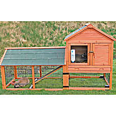Trixie 2-Story Rabbit Hutch with Wheels & Outdoor Run