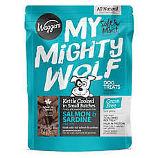 Waggers™ My Mighty Wolf Dog Treat - Natural, Grain Free, Salmon