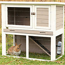 Trixie 2-Story Sloped Roof Rabbit Hutch