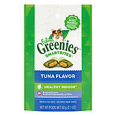 Feline GREENIES® SmartBites Hairball Control Cat Treat - Tuna
