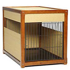 Mr. Herzher's Deluxe Wicker Residence Pet Crate