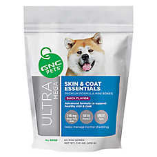 GNC Ultra Mega Skin & Coat Essentials Mini Dog Bone