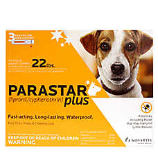Parastar Plus Under 22 Lb Dog Flea & Tick Treatment