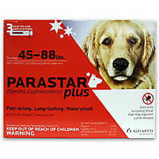 Parastar Plus 45-88 Lb Dog Flea & Tick Treatment