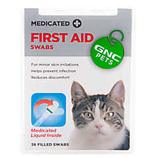 GNC Pets First Aid Medicated Cat Swab