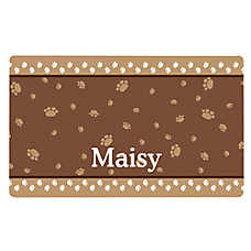 Drymate Paw Border Waterproof Personalized Pet Mat