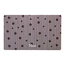 Drymate Paw Stripe Waterproof Personalized Pet Mat