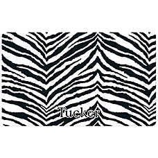 Drymate Exotic Zebra Waterproof Personalized Pet Mat