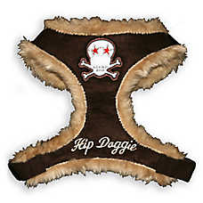 Hip Doggie Fur Skull Harness Vest