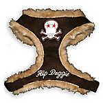 Hip Doggie Fur Skull Harness Vest