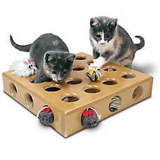 SmartCat Peek-a-Prize Toy Box Cat Toy