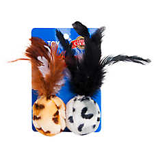Grreat Choice® Safari Feather Ball Cat Toy