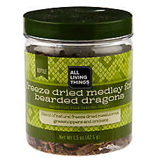 All Living Things® Freeze Dried Medley Bearded Dragon Food
