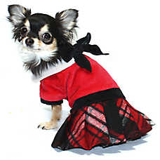Hip Doggie Plaid Jumper with Skirt