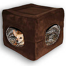 Hip Doggie Double Door Safe House Pet Bed