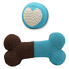 Hip Doggie Organic Ball & Bone Dental Dog Toy