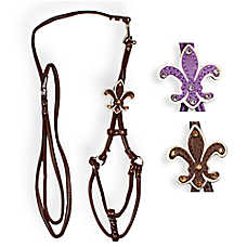 Hip Doggie Fleur De Lis Step-In Harness and Leash