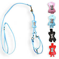 Hip Doggie Bone Step-in Dog Harness and Leash
