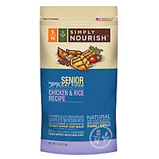 Simply Nourish™ Senior Cat Food - Natural, Chicken & Rice