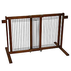 Crown Pet Freestanding Gate with Security Arms