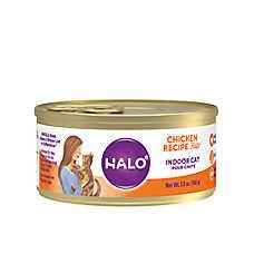 HALO® Indoor Cat Food - Natural, Grain Free, Chicken Recipe Pate