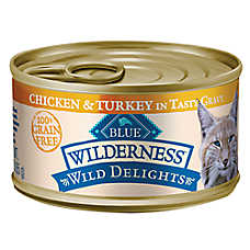 BLUE Wilderness® Wild Delights™ Grain Free Chicken & Turkey Adult Cat Food