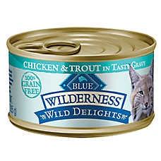 BLUE Wilderness® Wild Delights™ Grain Free Chicken & Trout Adult Cat Food