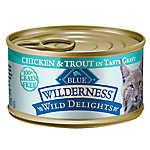 BLUE Wilderness® Wild Delights™ Grain Free Chicken & Trout Adult Cat Food