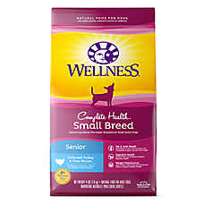 Wellness® Complete Health Small Breed Senior Dog Food - Natural, Turkey & Peas