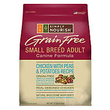 Simply Nourish® Grain Free Small Breed Adult Dog Food - Natural, Chicken with Peas & Potatoes