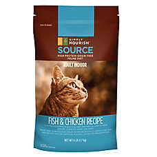 Simply Nourish™ SOURCE Indoor Adult Cat Food - Grain Free, High Protein, Fish & Chicken